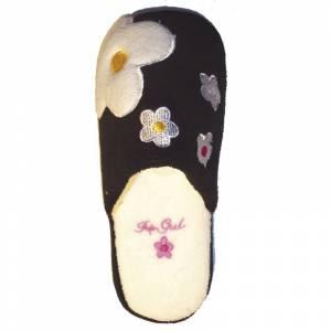 Imagen Negra PFLR Pantunfla flores mujer Negra Talla 36