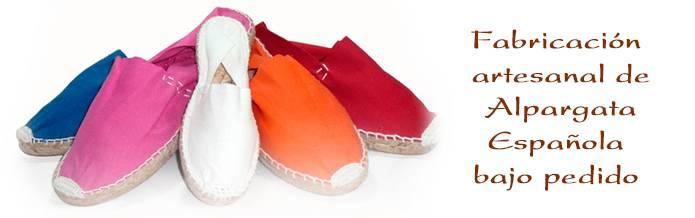 Sandalias de esparto. Alpargatas - Fabricación a medida