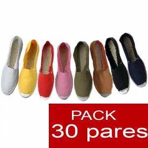 Alpargatas hombre y mujer boda - Alpargatas cerradas OFERTA ESPECIAL 6 (LOTE 3) surtidas en colores y tallas para hombre y mujer - caja 30 pares (�ltimas Unidades)
