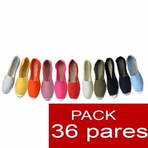 Mujer Cerradas - Alpargatas cerradas Boda Surtidas en colores y tallas ESPECIAL- caja de 36 pares