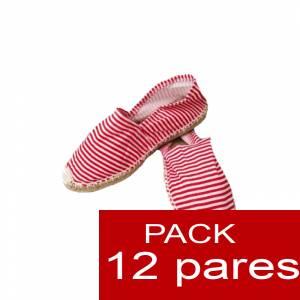 Mujer Estampadas - Alpargatas estampadas RAYAS ROJAS Caja 12 pares (Últimas Unidades)