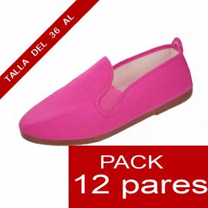 Otras Modelos - Manoletinas Zapatillas de TELA FUCSIA Lote de 12 pares (�ltimas Unidades)