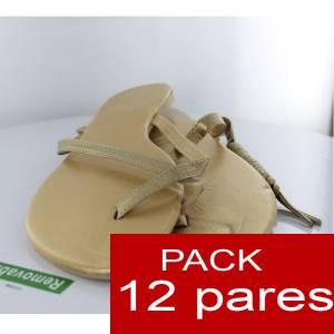 Otras Modelos - Sandalia de dedo DORADA Caja de 12