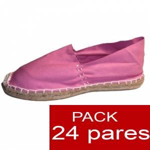 Para Hombres - Alpargatas cerradas HOMBRE color ROSA Tallaje 40-46 -caja 24 pares (TIENDA) (Últimas Unidades)